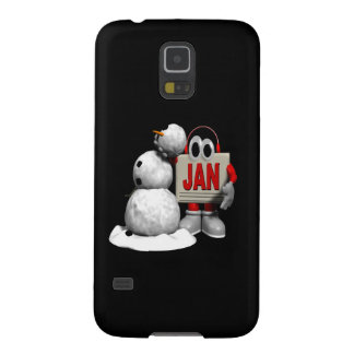 New Year Snowman Case For Galaxy S5