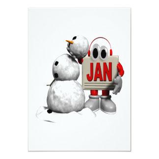 New Year Snowman Custom Invitations