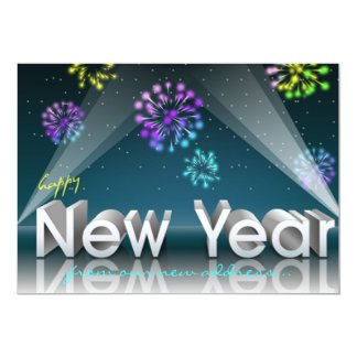 New Year Spotlights Card