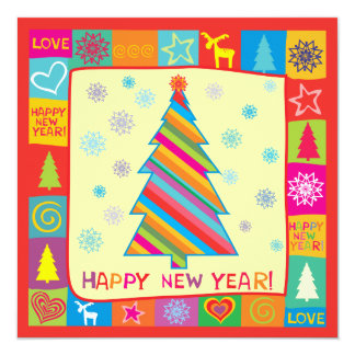 New Year Square - Photo Holiday Card