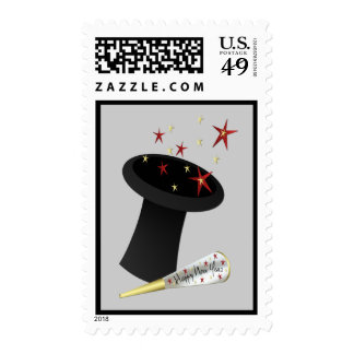 New Year Top Hat Stamp