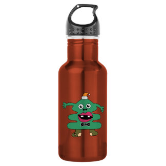 New Year Tree Cute Monster Liberty Bottle 18oz Water Bottle