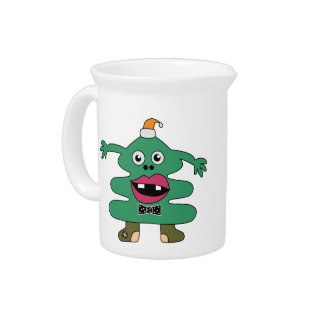 New Year Tree Cute Monster  Pitcher