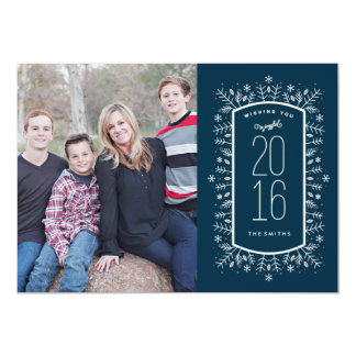 New Year Wish Holiday Photo Card