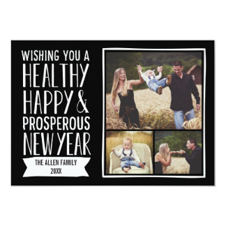 New Year Wishes Holiday Photo Cards