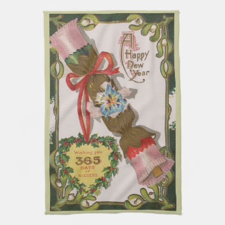 New Year With Pin Bonbon Kitchen Towel