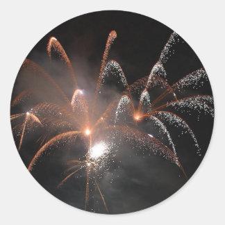 New Years002 At Seaport Village Round Sticker