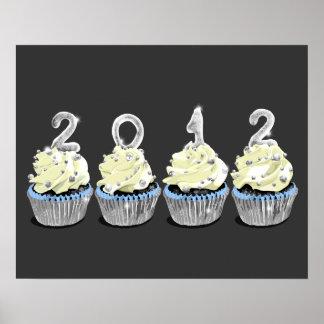 New year's 2012 cupcake print
