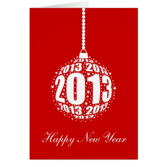 New Year's 2013 Stylish Ornament Design Card