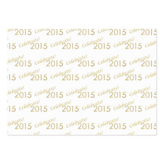 New Year's 2015 Gold Glitter on White Business Cards