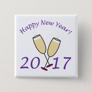 New Years 2017 Pinback Button