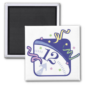 NEW YEARS 2 2 INCH SQUARE MAGNET