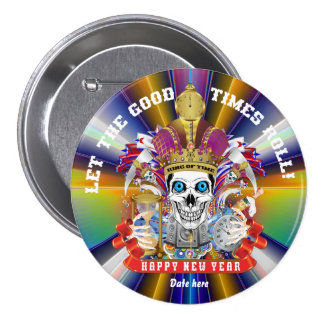 New Year's 37 Colors Read About Design Below Pinback Button