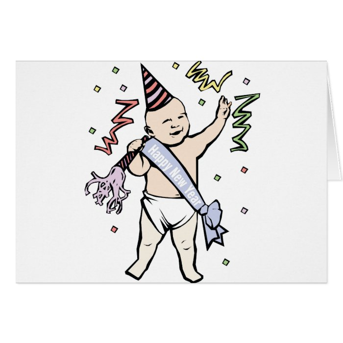 NEW YEAR'S BABY CARD