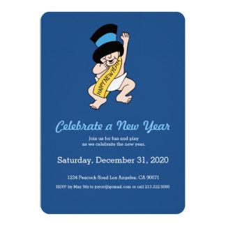 New Years Baby Invitation