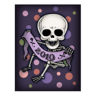 New Years Baby Skullabee Postcard