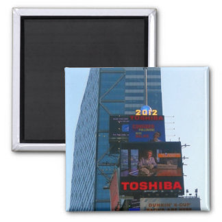 New years Ball at Times Square, NY 2 Inch Square Magnet