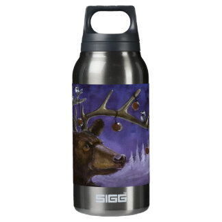 New Years Bear Insulated Water Bottle