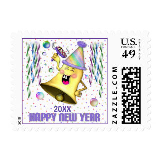 New Years Bell - Customize Postage