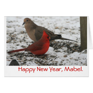 New Year's Birds Greeting Card