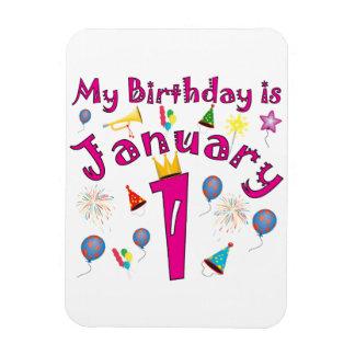 New Year's Birthday Magnet