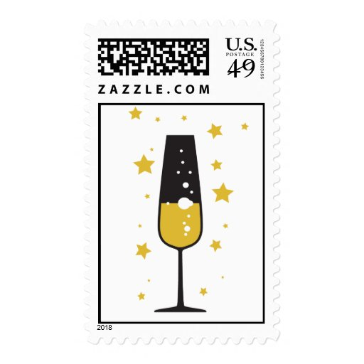 New Years Bubbly Postage
