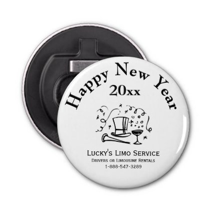 New Years Business Advertisment Memento Bottle Opener
