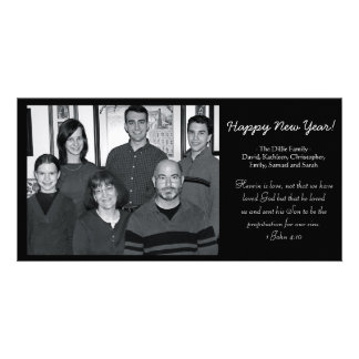 New Year's Card Photo Greeting Card