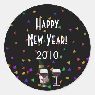 New Years Celebration Classic Round Sticker