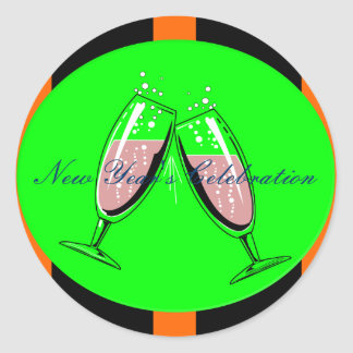 New Year's Celebration Classic Round Sticker