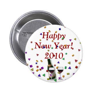 New Years Celebration Pinback Button