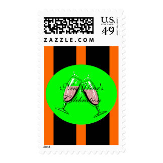 New Year's Celebration Postage Stamps