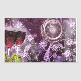 New Year's Celebration Rectangular Sticker