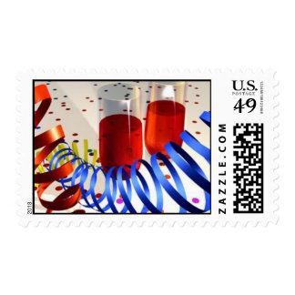 New Year's Celebration Stamps