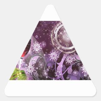 New Year's Celebration Triangle Sticker