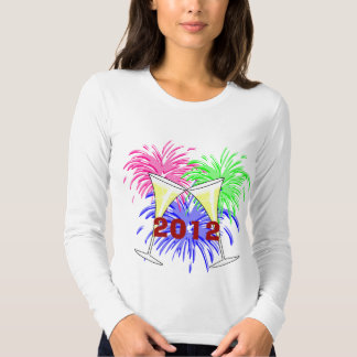 New Year's Champagne And Fire Works Shirt