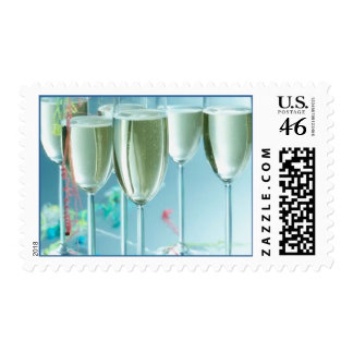 New Year's Champagne Glasses Postage