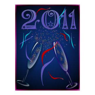 New Years Champaign Poster