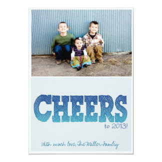 New Years - Cheers 2013 5x7 Paper Invitation Card
