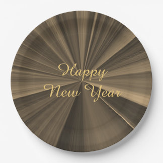 New Years Chocolate Paper Plates by Janz 9 inch