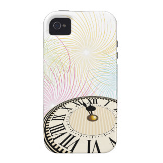 New Years Clock and Fireworks iPhone 4/4S Covers
