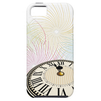 New Years Clock and Fireworks iPhone 5 Cases