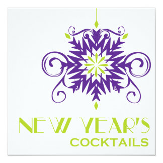 """New Year's Cocktail Party Invitation 5.25"""" Square Invitation Card"""