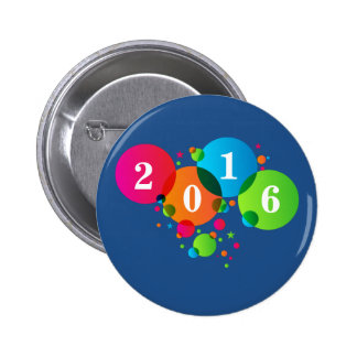 New Years Colorful Bubbles Button