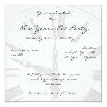 "New Year's Countdown Clock Party Invitations 5.25"" Square Invitation Card"