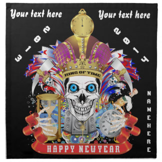 New Years Customize Edit & Change background color Napkin