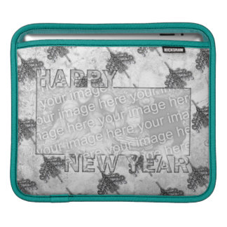 New Years Cut Out Photo Frame Chandeliers iPad Sleeve