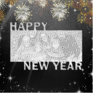 New Years Cut Out Photo Frame - Fireworks