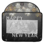 New Years Cut Out Photo Frame - Fireworks MacBook Pro Sleeves