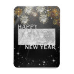 New Years Cut Out Photo Frame - Fireworks Magnets